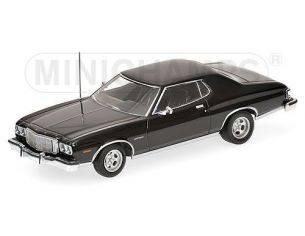 Minichamps PM400085201 FORD TORINO GT 1975 BLACK 1:43 Modellino
