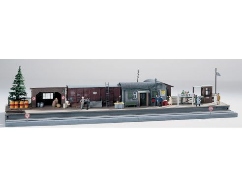 Piko 61112 Stazione edifici ferroviari 1:87 H0 Kit Modellismo SCATOLA ROVINATA