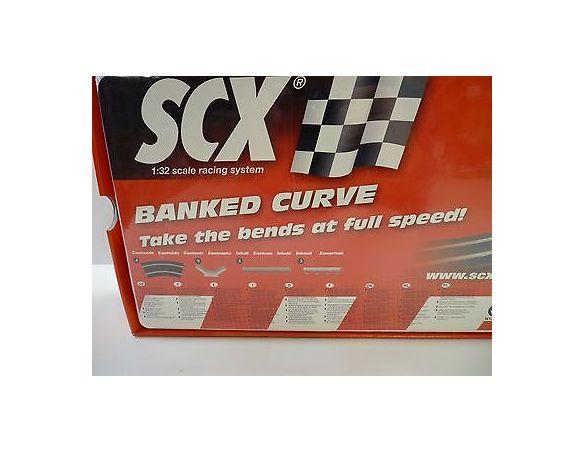 SCX 88680 Accessori pista Curva Inclinata 1:32 scatola rovinata