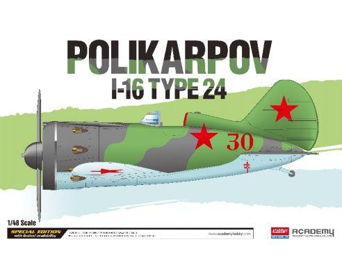 Accademy ACD12314 POLIKARPOV I-16 TYPE 24 KIT 1:48 Modellino