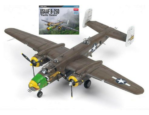 ACADEMY ACD12328 USAAF B-25D PACIFIC THEATRE KIT 1:48 Modellino