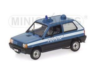 Minichamps PM400121490 FIAT PANDA POLIZIA STRADALE 1:43 Modellino