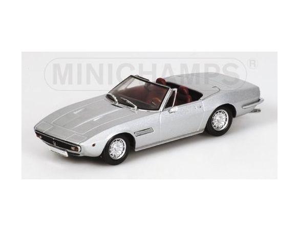 MINICHAMPS 400123331 MASERATI GHIBLI SPIDER 1969 SILVER Modellino