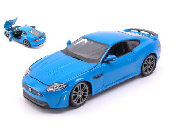 BBURAGO BU21063BL JAGUAR XKR-S 2011 BLUE 1:24 Modellino