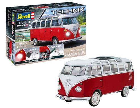 Revell RV00455 VW T1 SAMBA BUS TECHNIK KIT 1:16 Modellino