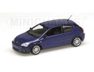 MINICHAMPS 400166100 TOYOTA COROLLA 3 PORTE 2001 BLUE METALLIC Modellino