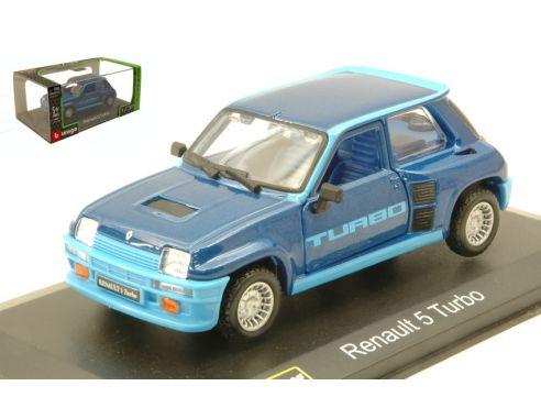 BBURAGO BU43215A RENAULT 5 TURBO 1982 BLUE 1:32 Modellino