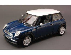 Bburago BU12034 NEW MINI COOPER RED W/WHITE ROOF 1:18 Modellino