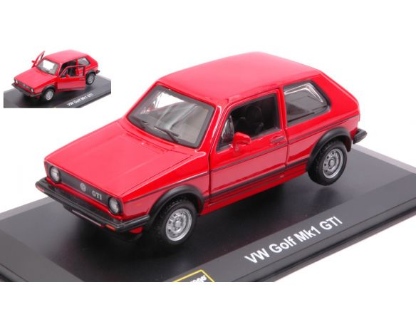 BBURAGO BU43205R VW GOLF Mk1 GTI 1979 RED 1:32 Modellino