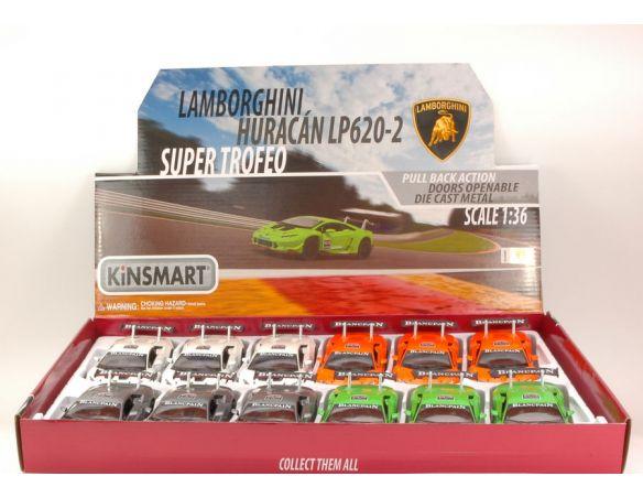 KINSMART KT5389 LAMBORGHINI HURACAN LP620-2 SUPER TROFEO 1:36 Modellino