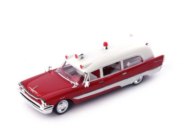 AUTOCULT ATC12010 DE SOTO FIRESWEEP MEMPHIAN AMBULANCE 1957 RED-WHITE 1:43 Modellino
