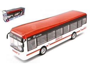 BBURAGO BU32102W CITY BUS WHITE cm 19 Modellino