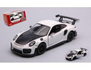 KINSMART KT5408WW PORSCHE 911 RS GT2 RS (991) WHITE/BLACK cm 12 BOX Modellino