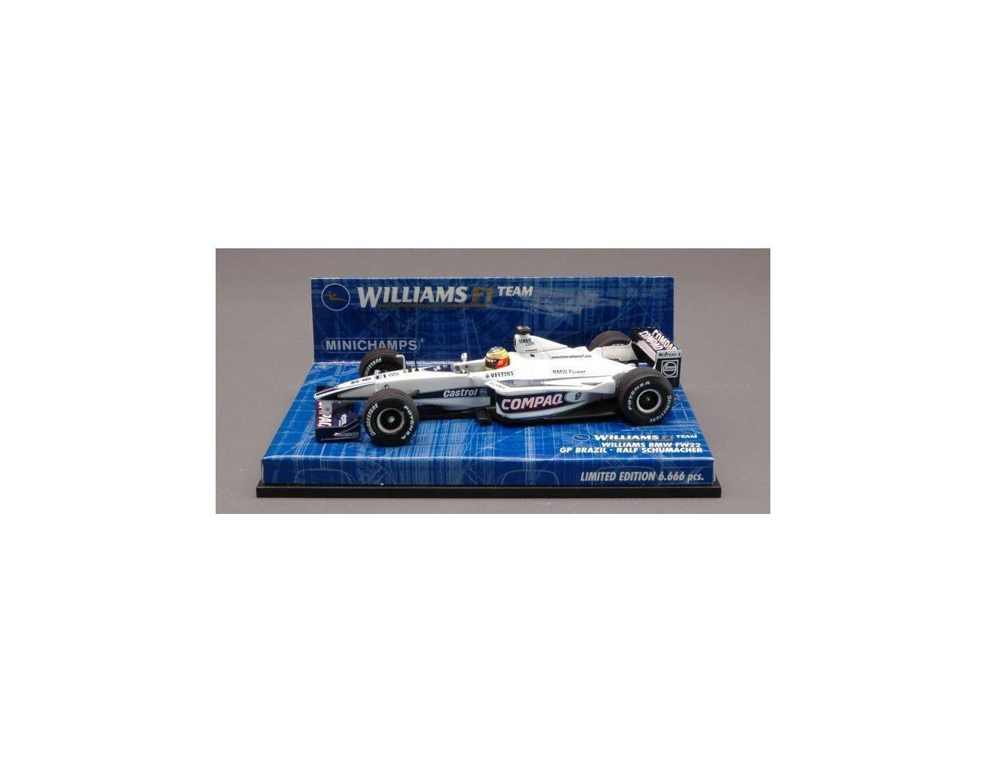 Minichamps PM430000029 WILLIAMS R.SCHUMACHER'00 BRAZIL 1:43 Modellino