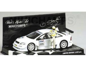 MINICHAMPS 430004890 OPEL V8 COUPE' WITH FIGURINE DTM 2000 V. STRYCEK Modellino