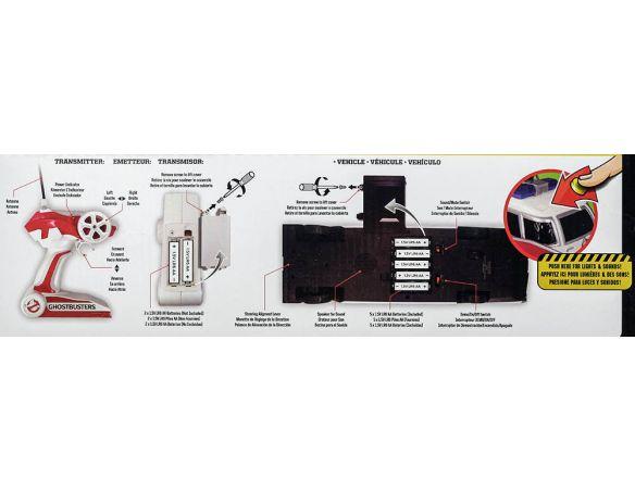 NKOK 6612 GHOSTBUSTERS ECTO-1 RADIO CONTROL CON SUONI E LUCI 35 CM