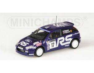 MINICHAMPS 430018997 FORD FOCUS RS WRC HIGGINS THOMAS RAC 2001 Modellino