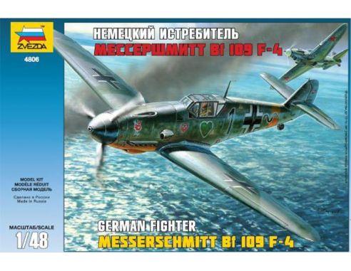 ZVEZDA Z4806 BF 109 F-4 KIT 1:48 Modellino