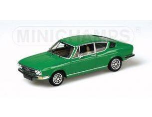 MINICHAMPS 430019124 AUDI 100 COUPE' S 1969 GREEN Modellino