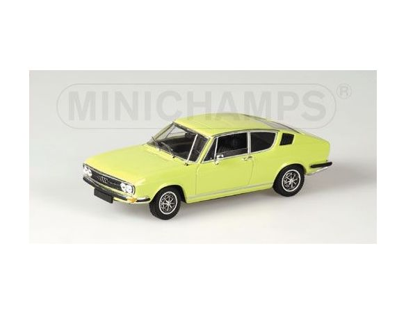 Minichamps 430019125 AUDI 100 COUPE' S 1969 YELLOW Modellino