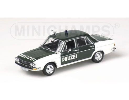 MINICHAMPS 430019195 AUDI 100 LS POLIZEI INGOLSTADT Modellino