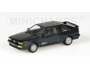 MINICHAMPS 430019424 AUDI QUATTRO 1981 GREEN METALLIC Modellino