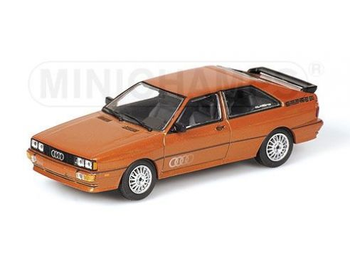 MINICHAMPS 430019426 AUDI QUATTRO 1981 BROWN METALLIC Modellino