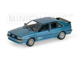 MINICHAMPS 430019427 AUDI QUATTRO 1981 BLUE METALLIC Modellino