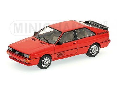 MINICHAMPS 430019428 AUDI QUATTRO 1981 RED Modellino