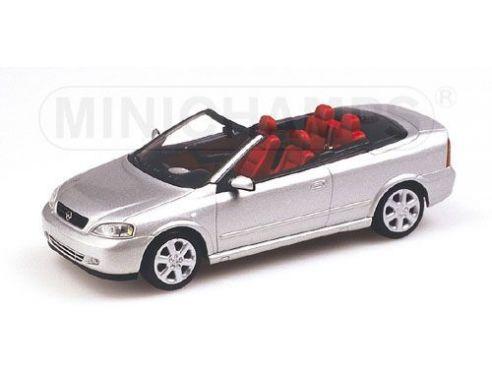 MINICHAMPS 430049130 OPEL ASTRA CABRIO 2000 SILVER Modellino