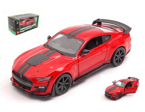 BBURAGO BU43050 MUSTANG SHELBY GT500 2020 RED 1:32 Modellino