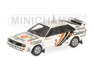 Minichamps PM430841902 AUDI QUATTRO N.2 SWEDISH RALLY 1984 EKLUND 1:43 Modellino