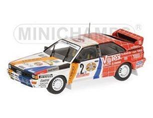Minichamps PM430841991 AUDI QUATTRO N.2 WINNER HUNSRUCK RALLY 1984 DEMUTH/LUX 1:43 Modellino