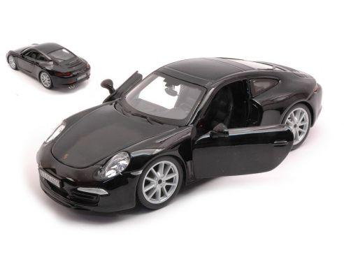 BBURAGO BU21065Z PORSCHE 911 991 2011 BLACK 1:24 Modellino