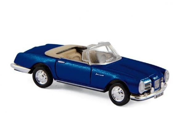 NOREV NV453004 FACEL VEGA III CABRIOLET 1963 METALLIC BLUE 1:87 Modellino