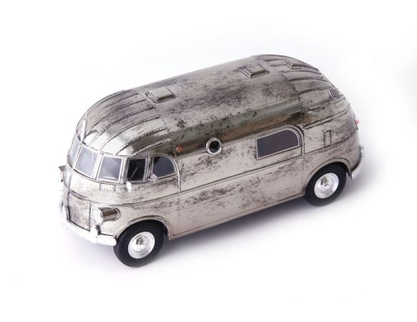AUTOCULT ATC09015 HUNT HOLLYWOOD HOUSE CAR 1940 MET.SILVER 1:43 Modellino