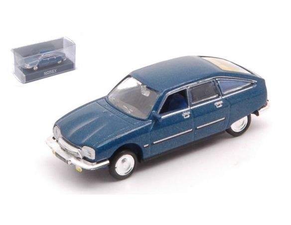 NOREV NV158220 CITROEN GS PALLAS 1977 GENTIANE BLUE METALLIC 1:87 Modellino