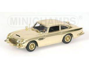 MINICHAMPS 436137261 ASTON MARTIN DB 5 007 JAMES BOND GOLD PLATED Modellino