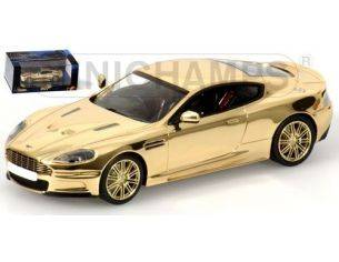 MINICHAMPS 436137621 ASTON MARTIN DBS 007 JAMES BOND GOLD PLATED Modellino