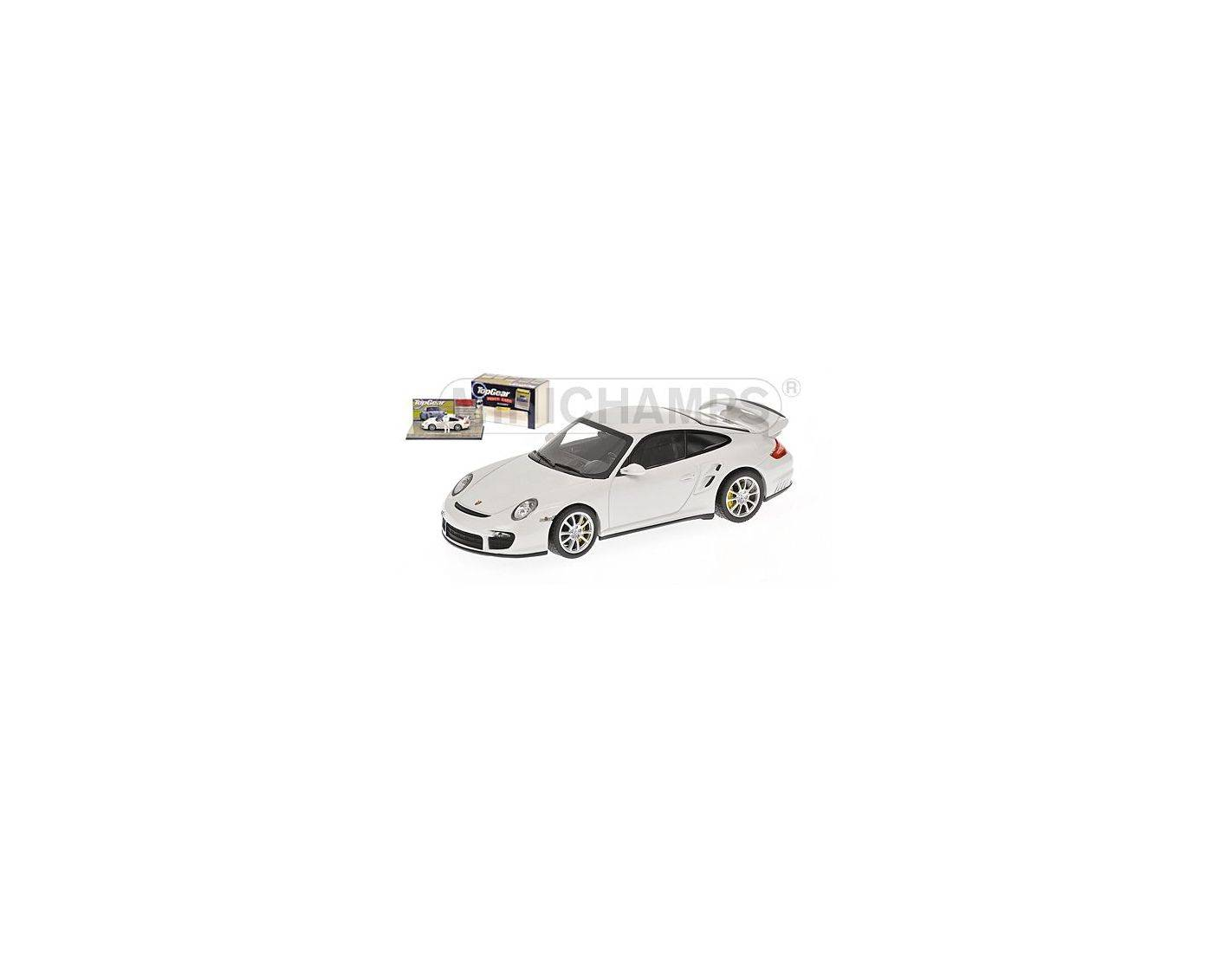 auto 1 43 minichamps 519436630 porsche 911 gt2 997 2007 white top gear modellino modellino shop. Black Bedroom Furniture Sets. Home Design Ideas