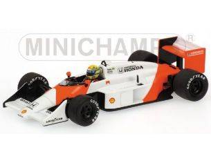 Minichamps PM540874399 MC LAREN A.SENNA TEST 1987 1:43 Modellino