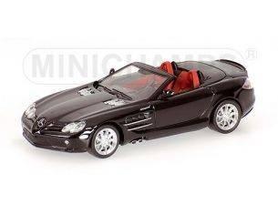 MINICHAMPS 640037130 MERCEDES SLR McLAREN ROADSTER 2008 BLACK Modellino