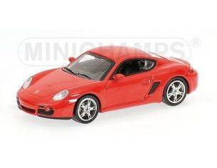 Minichamps PM640065620 PORSCHE CAYMAN 2005 RED 1:64 Modellino