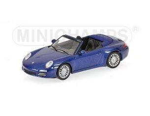 Minichamps PM640066470 PORSCHE 911 CARRERA 4S '08 BLUE 1:64 Modellino