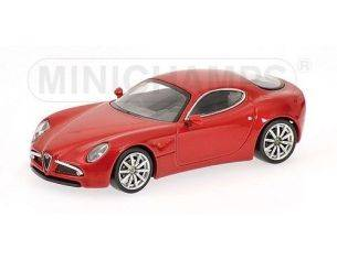 Minichamps PM640120520 ALFA ROMEO 8 C RED MET.1:64 Modellino