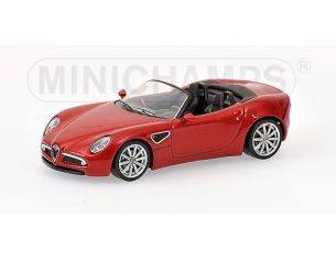 MINICHAMPS 640120531 ALFA ROMEO 8C SPIDER RED METALLIC Modellino