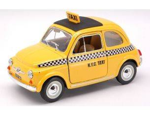 Bburago BU22105 FIAT 500 1965 NEW YORK CITY TAXI 1:24 Modellino