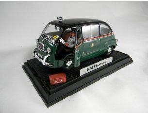Miniminiera T74301 FIAT 600 MULTIPLA TAXI MILANO 1/18 Modellino