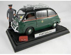 Miniminiera T74302 FIAT 600 MULTIPLA TAXI MILANO 1/18 Modellino