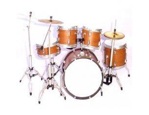 Music Legend 20107 BATTERIA NO BRAND DARK WOOD CUSTOM Modellino